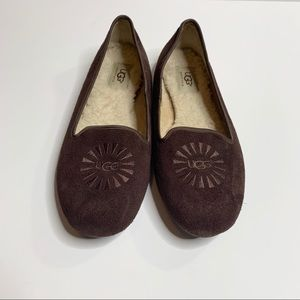 UGG Alloway Brown Suede Loafer Size 8